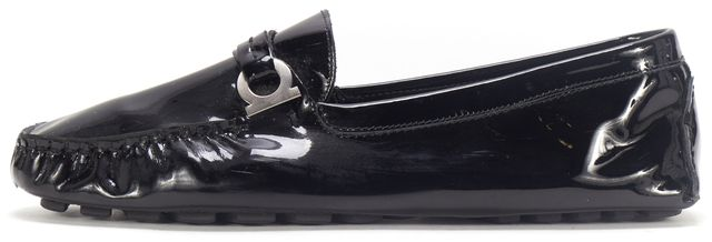 SALVATORE FERRAGAMO Black Patent Leather Life 2 Driving Casual Loafers