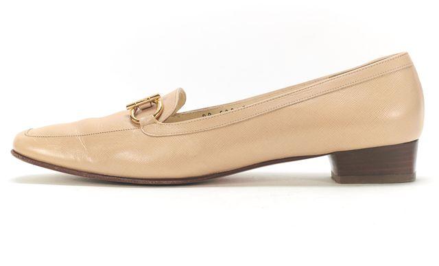 SALVATORE FERRAGAMO Boutique Beige Saffiano Leather Need Loafers