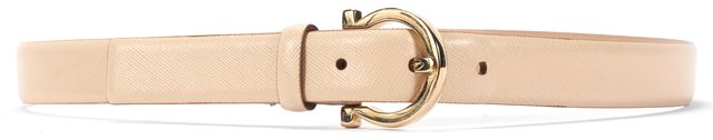 SALVATORE FERRAGAMO Beige Leather Belt