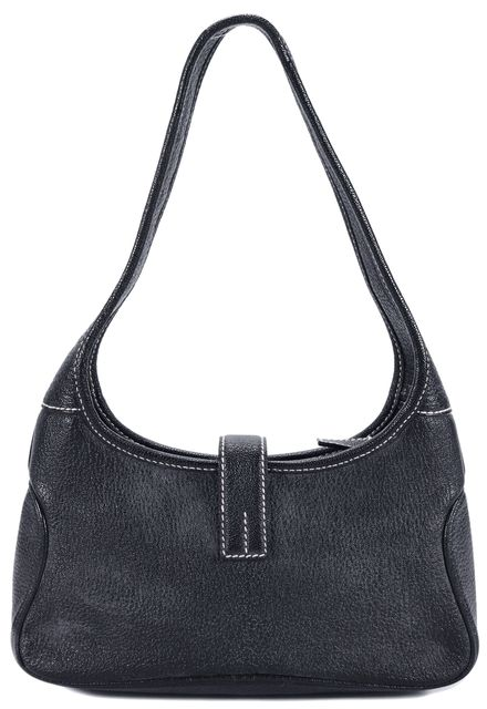 SALVATORE FERRAGAMO Black Leather Shoulder Bag Handbag