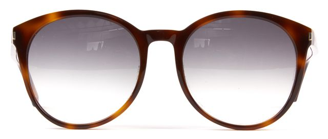 SAINT LAURENT Brown Black Tortoise Gradient Lens Classic 6 Round Sunglasses