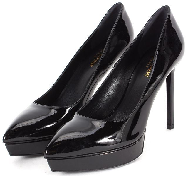 SAINT LAURENT Black Patent Leather Pump