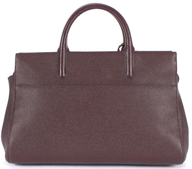 SAINT LAURENT Leather Rive Gauche Small Top Handle Satchel Bag