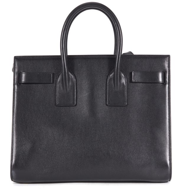 SAINT LAURENT Black Leather Small Sac De Jour Top Handle Bag