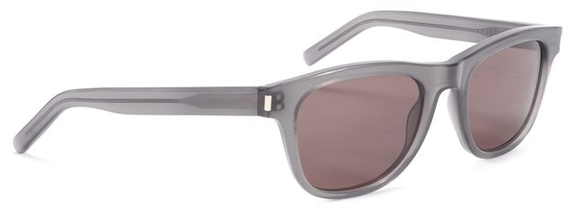 SAINT LAURENT Gray Square Frame Acetate Sunglasses