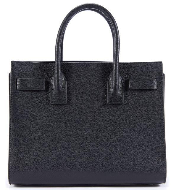 SAINT LAURENT Black Leather Baby Sac de Jour Satchel Bag