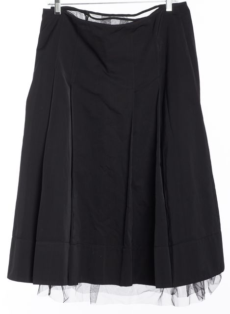 'S MAXMARA Black A-Line Skirt