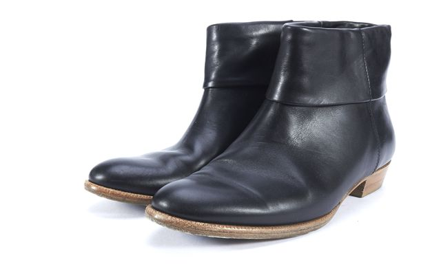 SIGERSON MORRISON Black Leather Almond Toe Ankle Boots