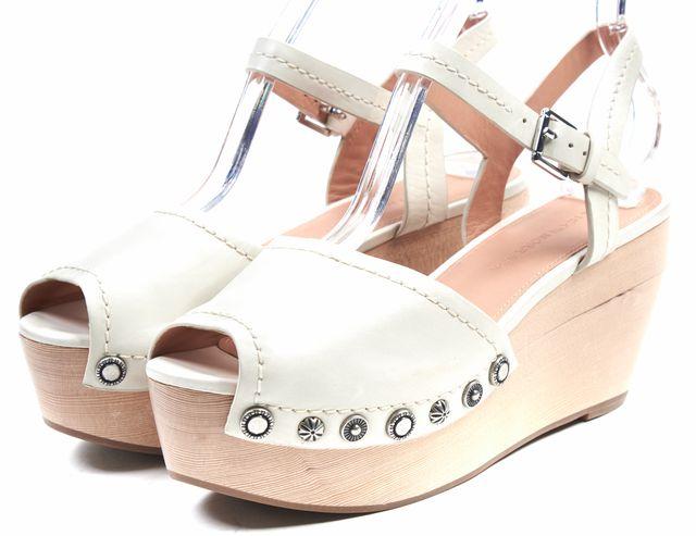 SIGERSON MORRISON Ivory Embellished Leather Cailey Platforms Sandals