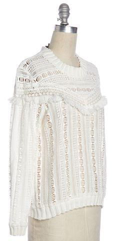 SEA NY White Cutout Knit Top