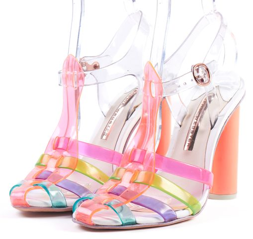 SOPHIA WEBSTER Orange Pink Multicolor PVC Rosa Jelly Sandals