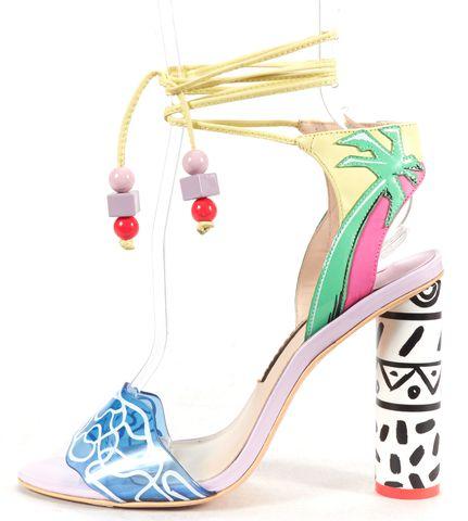 SOPHIA WEBSTER Multi-color Leather Palm Tree Kali Malibu Sandal Heels