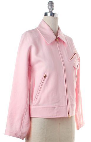 SONIA RYKIEL Pink Gold Zip Up Jacket