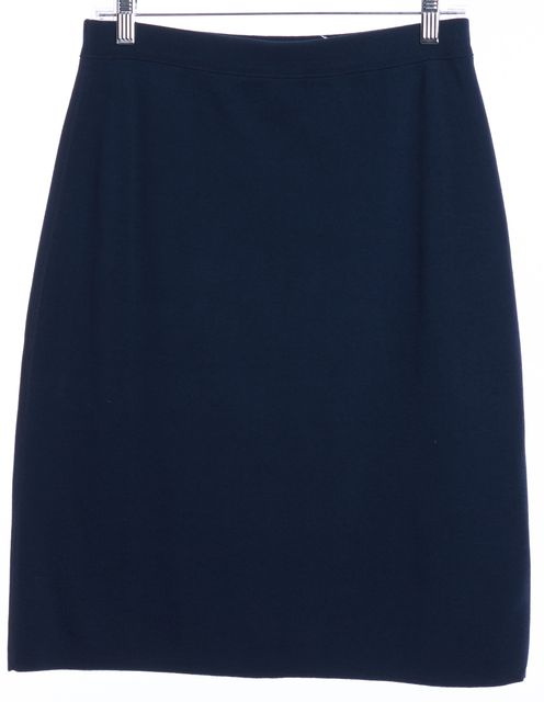 SONIA RYKIEL Blue Cotton Stretch Knit Skirt
