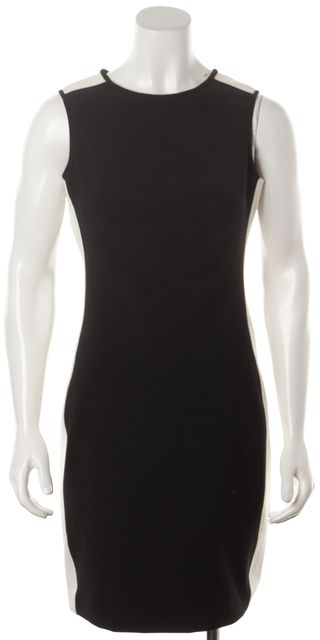 SHOSHANNA Black White Colorblock Above Knee Sheath Dress