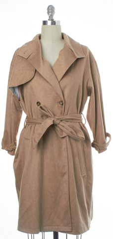 STEVEN ALAN Beige Wool Trench Coat