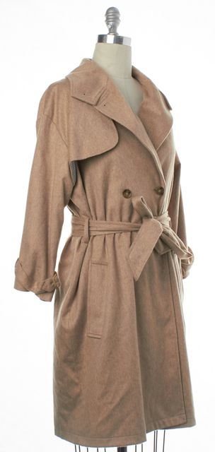 STEVEN ALAN Beige Wool Trench Coat