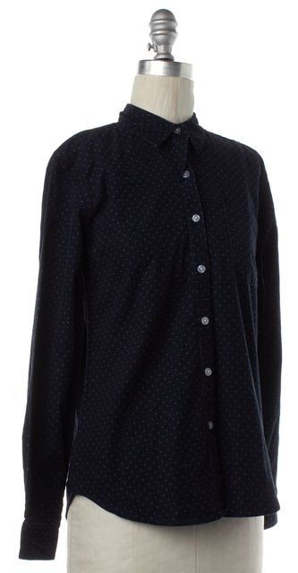 STEVEN ALAN Blue Green Polka Dot Corduroy Button Down Shirt