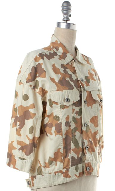 STEVEN ALAN Beige Brown Camo Jacket