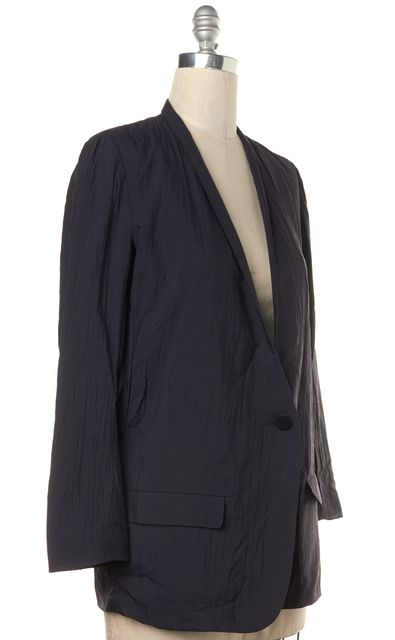STEVEN ALAN Navy Blue Single Button Blazer Jacket