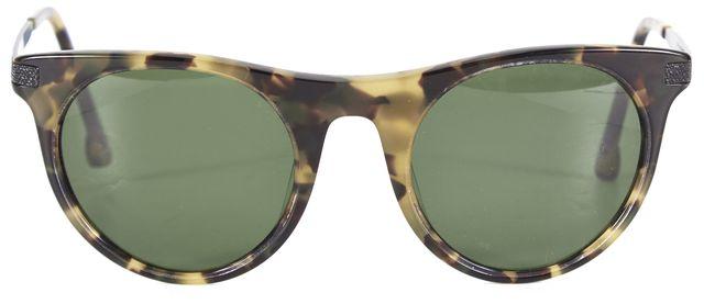 STEVEN ALAN Brown Darlington Tokyo Tortoise Shell Frame Green Lens Sunglasses