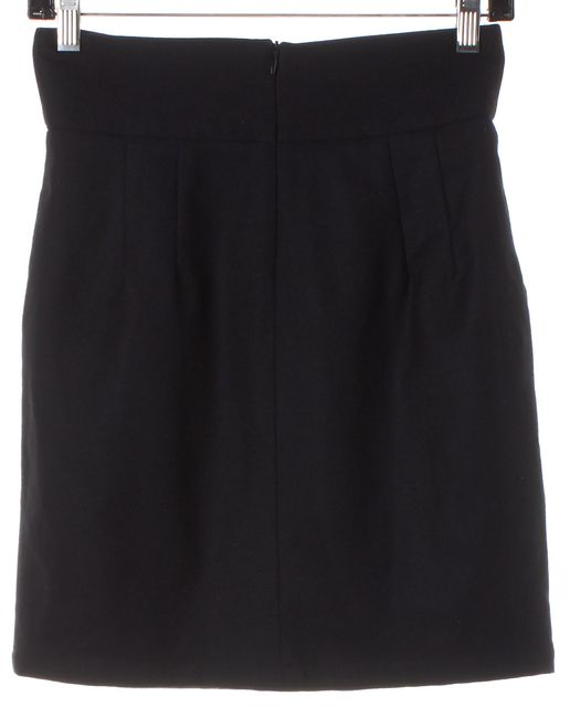 STEVEN ALAN Black Wool Straight Skirt