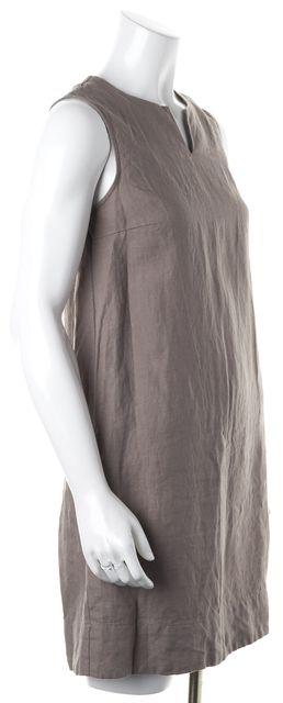 STEVEN ALAN Medium Gray Linen Sleeveless Shift Dress