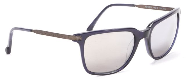 STEVEN ALAN Dark Navy Blue Hotchkiss Square Metal Arm Sunglasses