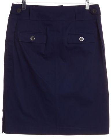 ST. JOHN Blue Straight/Pencil Knee-Length Skirt