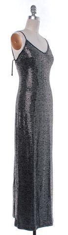 ST. JOHN Black Silver Sequin Dress