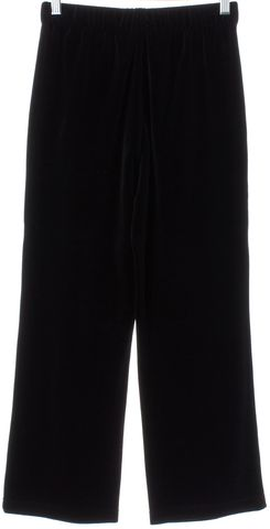 ST. JOHN Black Velvet Cropped Pants