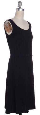 ST. JOHN Black Wool Sleeveless Sheath Dress Size 2