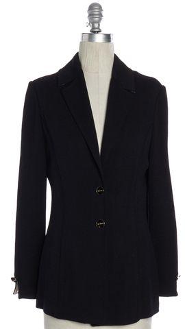 ST. JOHN Navy Blue Knit Jacket Size 4