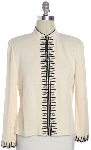 ST. JOHN Ivory Knit Jacket Size 12