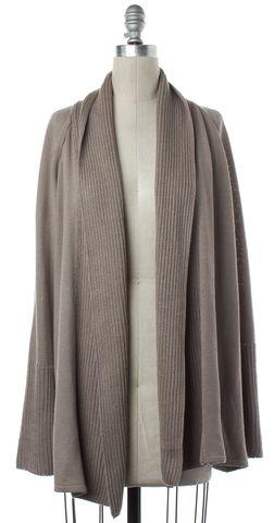 ST. JOHN Beige Wool Open Knit Cardigan