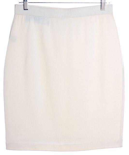 ST. JOHN Ivory Wool Knit Pencil Skirt Fits Like a 8