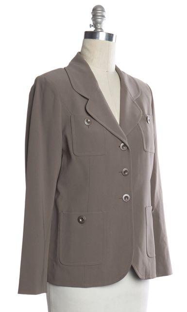 ST. JOHN Gray Blazer Style Jacket