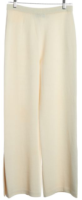 ST. JOHN Ivory Wide Leg Knit Pants