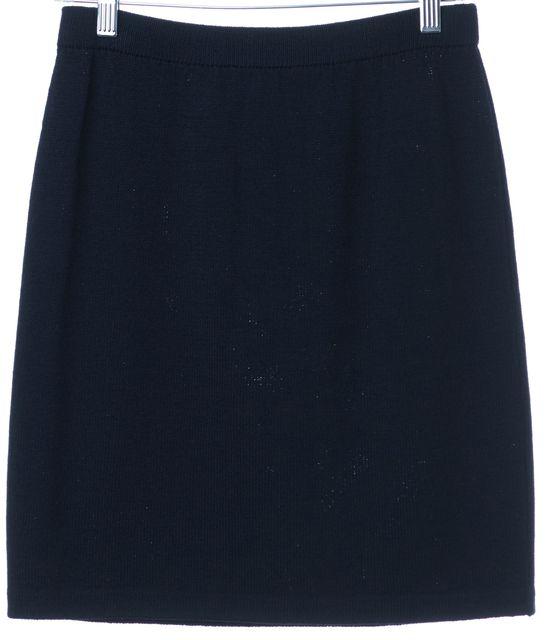 ST. JOHN Navy Blue A-Line Skirt