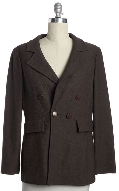ST. JOHN Casual Career Brown Blazer Basic Jacket