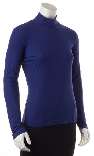 ST. JOHN Royal Blue Long Sleeve Turtleneck Top