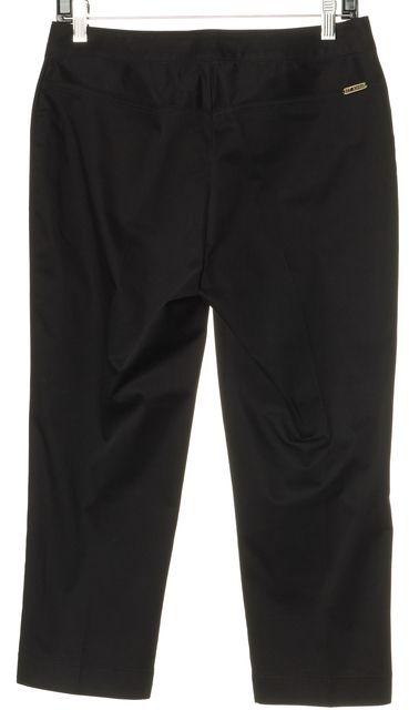 ST. JOHN Black Slim Leg Capris Cropped Pants