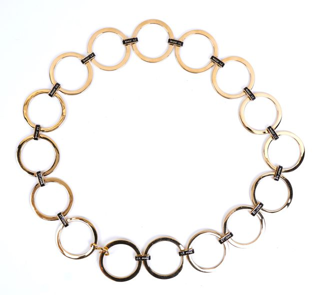 ST. JOHN Gold-Tone Circle Chain Belt