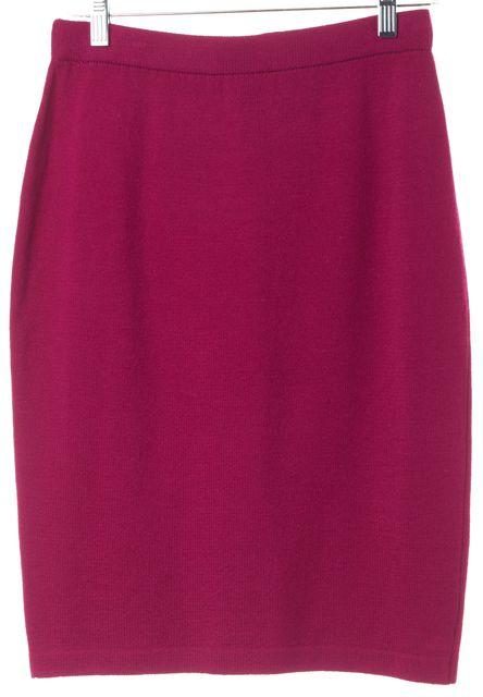 ST. JOHN Pink Wool A-Line Skirt