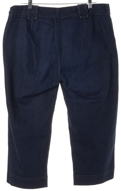 ST. JOHN Blue Cropped High-waist Jeans
