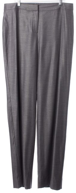 ST. JOHN Gray Pleated Trouser Dress Pants