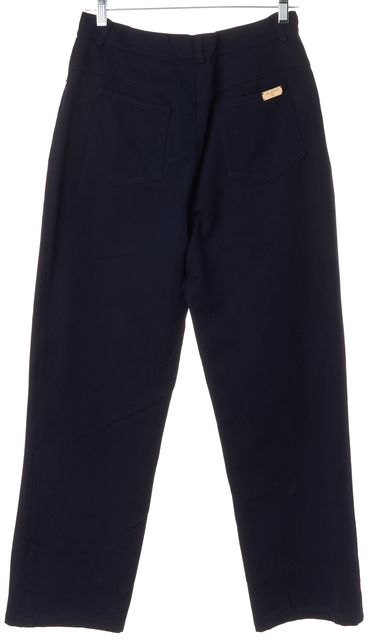 ST. JOHN Navy Blue Straight Leg Pants