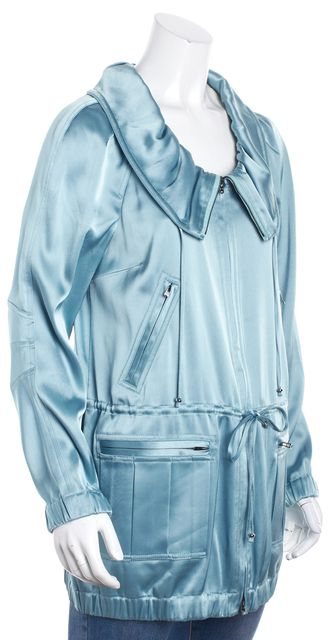 ST. JOHN Blue Satin Basic Jacket