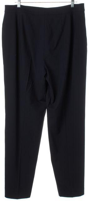 ST. JOHN CAVIAR Navy Blue Wool Diana Trouser Dress Pants