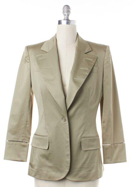 STELLA MCCARTNEY Beige Single Button Blazer